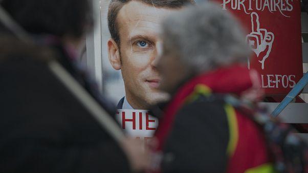 صورة للرئيس الفرنسي إيمانويل ماكرون