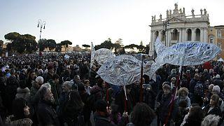 تظاهرات ساردین ها در ایتالیا