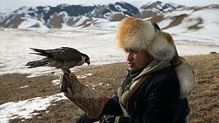صيد وتربية الصقور في كازاخستان