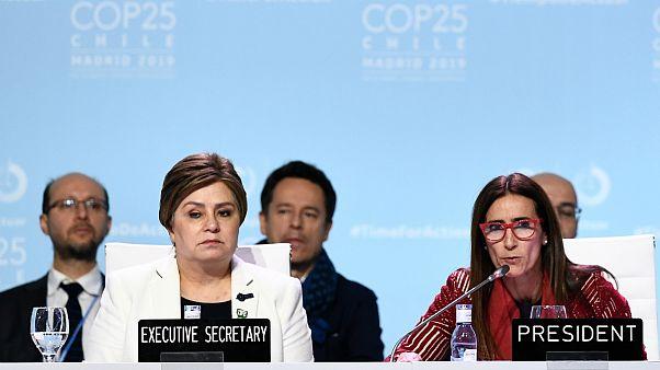 A representante da ONU Patricia Espinosa com a ministra chilena Carolina Shmidt