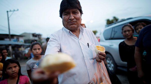 الرئيس البوليفي السابق إيفو موراليس الذي أصبح لاجئا بالأرجنتين. 19/10/2019