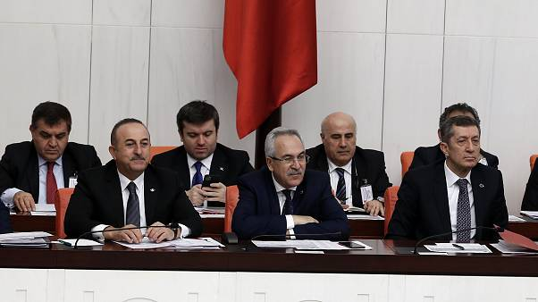 Dışişleri Bakanı Mevlüt Çavuşoğlu ve Milli Eğitim Bakanı Ziya Selçuk