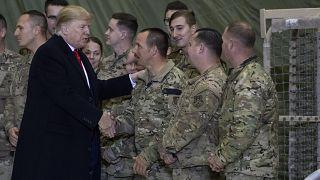 دونالد ترامپ در سفری که سال گذشته به افغانستان داشت