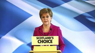 First Minister Nicola Sturgeon speaks to supporters