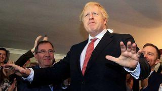 Boris Johnson photographié dans le nord-est de l'Angleterre le 14 décembre 2019