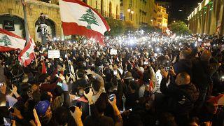 Protestos violentos no Líbano