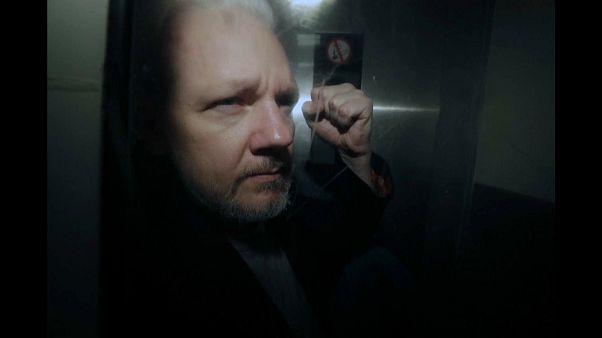 Une manifestation en soutien à Julian Assange