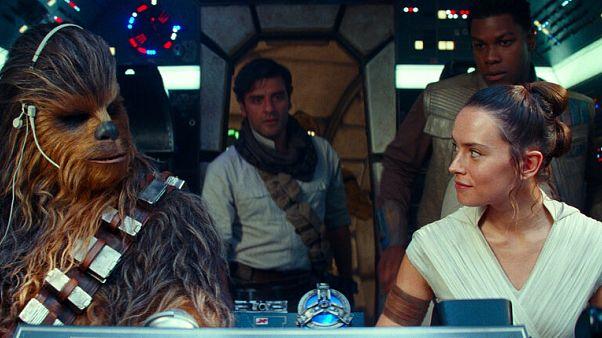 Chewbacca, Rey e Finn nell'ultimo Star Wars, L'ascesa di Skywalker