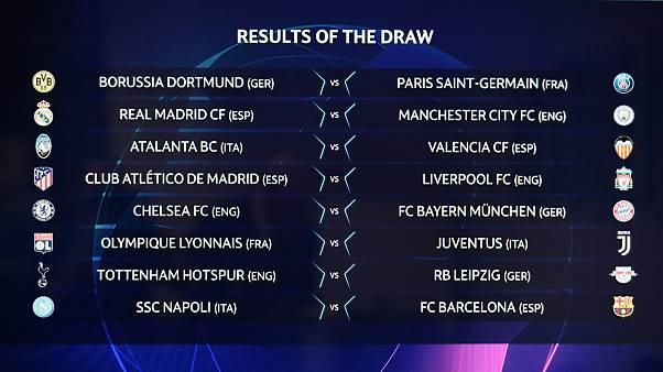 Resultado do sorteio dos oitavos-de-final da Liga dos Campeões