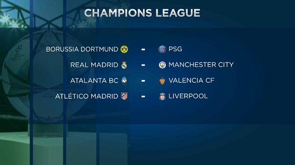 Madrid-City, Atleti-Liverpool, Nápoles-Barça y Atalanta-Valencia en los octavos de la Champions