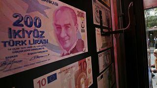 İstanbul'da bir döviz bürosu