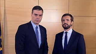 """Casado mantiene su """"no"""" a Sánchez y Arrimadas insiste en el pacto constitucionalista"""