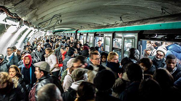Métro parisien, le 16 décembre 2019