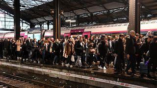 La estación Saint Lazare de París el lunes 16 de diciembre