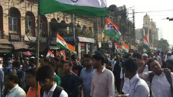 Protestas en la India contra la ley gubernamental de ciudadanía