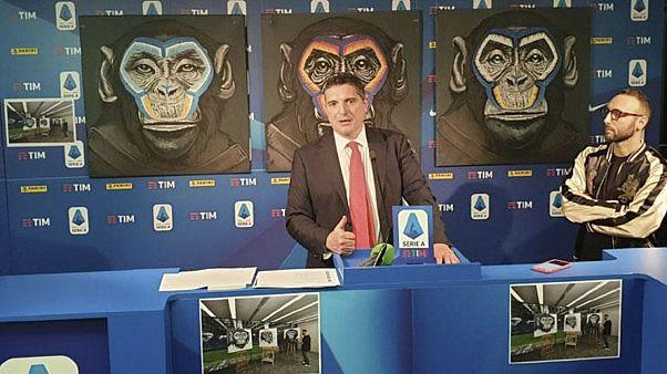 Trittico di scimmie contro il razzismo, la Lega Serie A si scusa