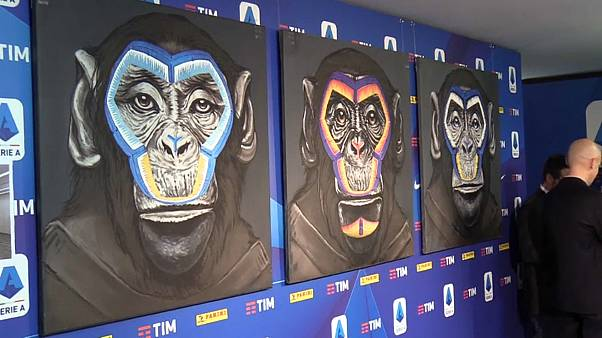"""Италия: обезьяны """"борются"""" с расизмом в футболе"""