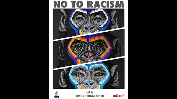 "Serie A apologises for ""inappropriate"" monkey paintings in anti-racism campaign 