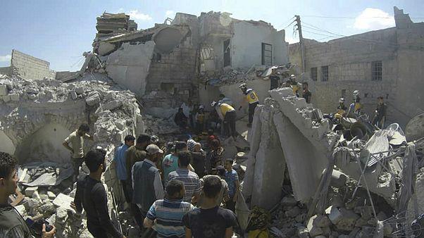 حمله هوایی به منطقهای در استان ادلب سوریه