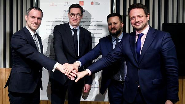 Four city mayors club together to snub populist governments in central Europe