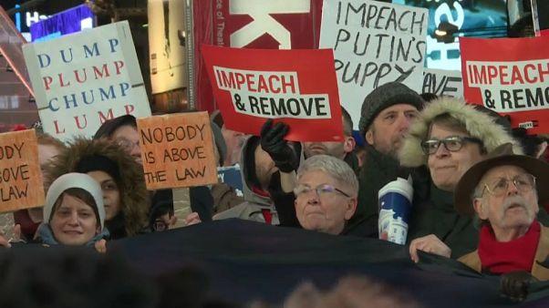 Manifestazione anti-Trump a New York.