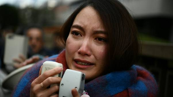 Shiori Ito speaks to reporters after winning her case at the Tokyo District Court