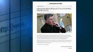 Il sito dell'Arcivescovado di La Plata sulla notizia della morte di don Eduardo Lorenzo.