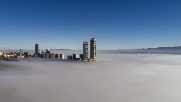 Başkent Ankara'dan sis manzaraları