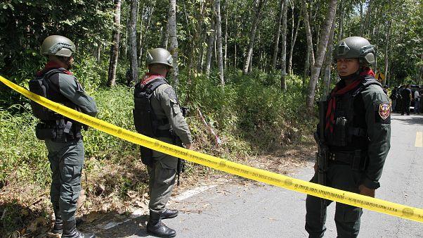 عناصر من الشرطة التايلاندية جنوب البلاد
