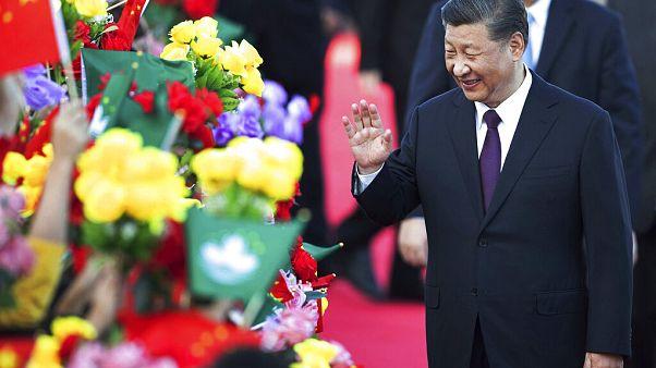 Xi Jinping à chegada a Macau
