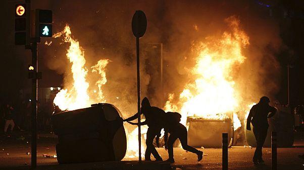 Fußball und Politik: Verletzte und Verhaftungen in Barcelona