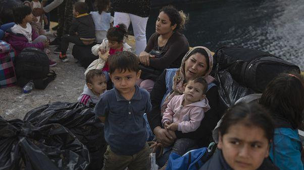 Yunanistan'da kamplarda kalan mülteciler
