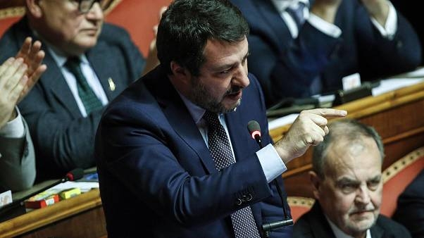 League secretary Matteo Salvini delivers a speech at the Senate, in Rome, Italy, 11 December 2019.  ANSA/GIUSEPPE LAMI