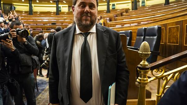 Oriol Junqueras in Madrid on May 21, 2019.