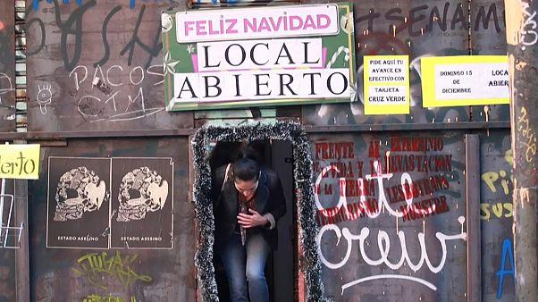 Navidades austeras y tristes en Chile tras dos meses de protestas