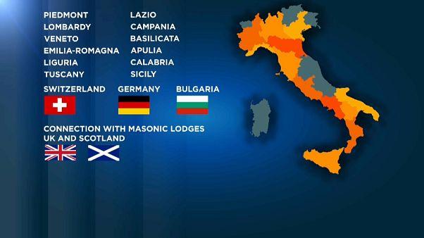 Mappa goegrafica delle zone interessate dalla operazione Rinascita-scott