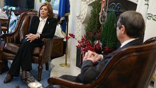 Ο Πρόεδρος της Κυπριακής Δημοκρατίας Νίκος Αναστασιάδης δέχεται την Επίτροπο της ΕΕ για την Υγεία και την Ασφάλεια Τροφίμων κα Στέλλα Κυριακίδου