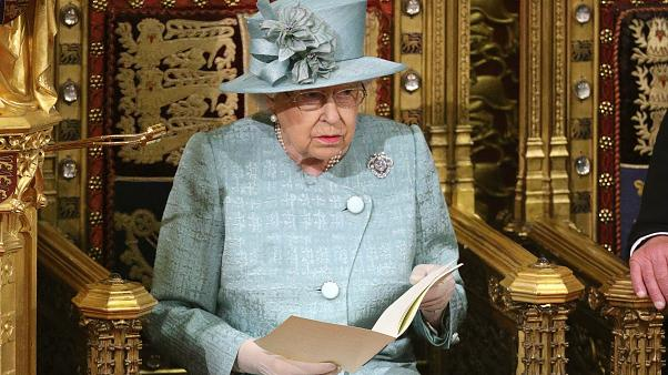 Queen Elizabeth II delivers the Queen's Speech in the chamber during the State Opening of Parliament