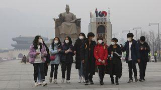 تعاني عواصم ومدن كثيرة من تلوث الهواء - الصورة من سول عاصمة كوريا الجنوبية