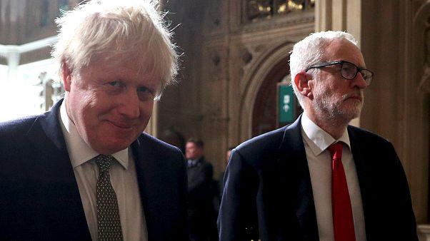 Primer 'pulso político' entre Johnson y Corbyn en la nueva legislatura