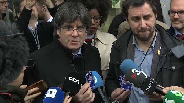 Carles Puigdemont recoge el acta de eurodiputado en el Parlamento Europeo