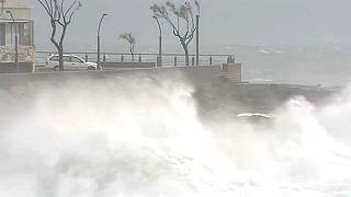Pusztító erővel érte el az Elza nevű vihar Portugáliát
