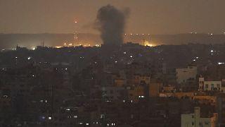 صورة أرشيفية لقصف إسرائيلي سابق على غزة