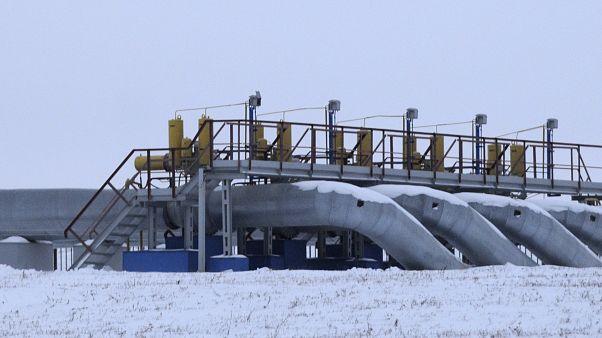 Rusya'da bir gaz istasyonu. Sudzhe / Rusya