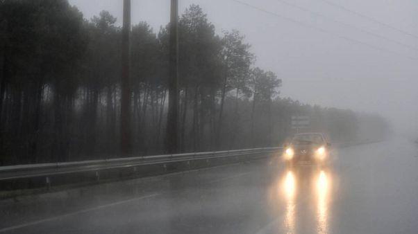 High winds battered France