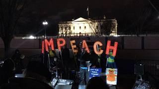 Impeachment supporters sing outside White House