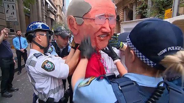 Protesta en Australia contra el cambio climático