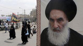 صورة للمرجع الديني الشيعي الأعلى في العراق آية الله علي السيستاني