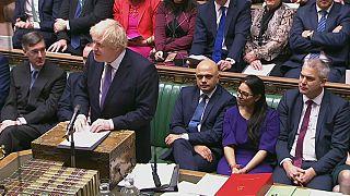 Boris Johnson alla Camera dei Comuni