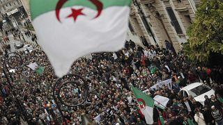 صورة من مظاهرة اليوم في الجزائر